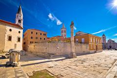 Ancient landmarks of Zadar view Stock Photos