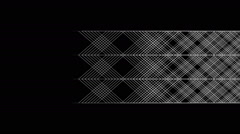 Flowing geometric pattern in graphic style - 02 - white on black (FULL HD) Stock Footage
