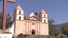 Santa barbara mission 4k  Stock Footage
