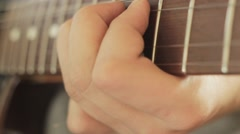 Professional Handsome Guitarist Playing Jazz Music Stock Footage