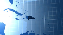 Dominican. Zooming into Dominican on the globe. Stock Footage