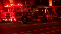 Santa monica fire department 4k  Stock Footage