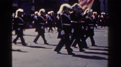 1962: marching band parades down street in belfast, northern ireland. NEW YORK Stock Footage