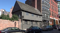 The Paul Revere House, 19 North Square, Boston, MA. Stock Footage