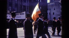 1962: magnificent procession is progressing through the public road in the city Stock Footage