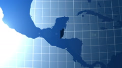 Belize. Zooming into Belize on the globe. Stock Footage