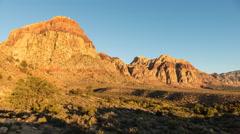 Nevada Desert Morning Light Movement Stock Footage