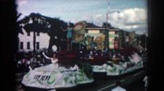 1962: parade day happiness. PASADENA CALIFORNIA Stock Footage