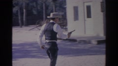 1966: scene from a western. FLORIDA Stock Footage