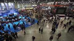 Visitors of IgroMir Expo 2016 and Comic Con Russia 2016 in Moscow, Russia Stock Footage