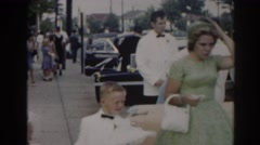 1963: busy vintage american street: 1950s cars, clothes, and more NEW JERSEY Stock Footage