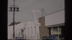 1963: several buildings on a suburban street during the summer NEW JERSEY Stock Footage