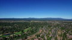 Aerial pan shot of Bend Oregon looking west. Stock Footage