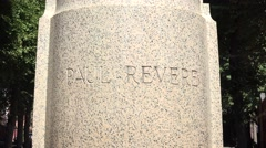 The Paul Revere statue, Paul Revere Mall, Boston, MA. Stock Footage