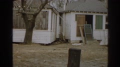 1963: neighborhood after a windstorm. NEW JERSEY Stock Footage