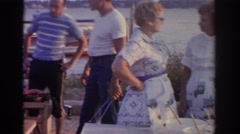 1963: enjoying a pleasant day with family and friends, vintage clip Stock Footage
