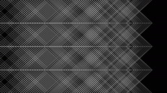 Seamless graphic background with geometric pattern - 03 - on black (FULL HD) Stock Footage