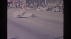 1966: machines that walking in a line forming a circle FLORIDA Stock Footage