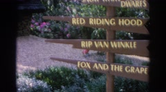 1966: tourist spot, including objects and neat signs. FLORIDA Stock Footage