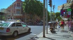 Allenbi street life. City rush time lapse video Stock Footage