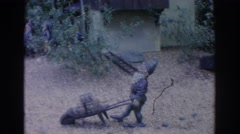 1966: miniature gnome village display in the yard. FLORIDA Stock Footage
