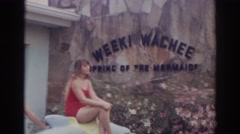1966: what a beautiful dolphins NORFOLK VIRGINIA Stock Footage