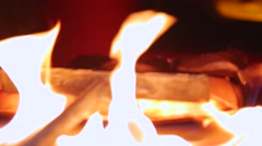 Process of melting gold in kiln Stock Footage