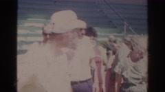 1966: people leaving a ballgame. NORFOLK VIRGINIA Stock Footage