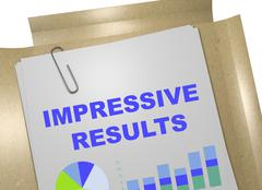Impressive Results - business concept Stock Illustration