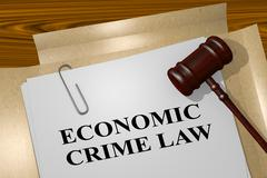 Economic Crime Law - legal concept Stock Illustration