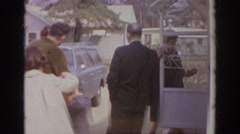 1966: the premises of house with orchard elegantly decorated NORFOLK VIRGINIA Stock Footage