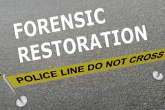 Forensic Restoration concept Stock Illustration