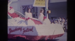 1966: footage of plant city's chamber of commerce strawberry festival NORFOLK Stock Footage
