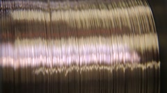 Alloy wire precious metals Stock Footage