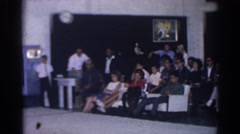 1966: family members all grouped together at a meeting. SAN GABRIEL CALIFORNIA Stock Footage