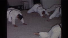 1966: karate class in session. SAN GABRIEL CALIFORNIA Stock Footage