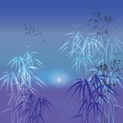 Bamboo vector background Stock Illustration