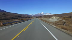 Heading up Haines Summit Late Autumn Driving POV Fast Time Lapse HD Stock Footage