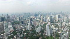 Aerial view of sukhumvit area in bangkok thailand Stock Footage