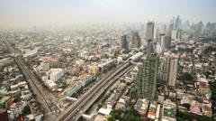 Bangkok city at evening time lapse Stock Footage