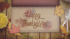 Thanksgiving and Autumn Stock Footage