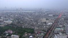Traffic jam in bangkok city Stock Footage