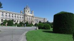 Vienna, Austria: The Kunsthistorisches Museum During Summer Stock Footage
