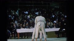 1966: a karate match in session. SAN GABRIEL CALIFORNIA Stock Footage