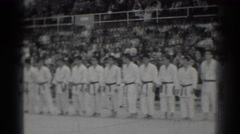1966: award ceremony at a karate competition. SAN GABRIEL CALIFORNIA Stock Footage