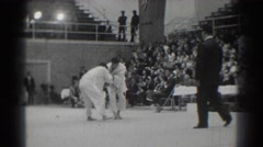 1966: a karate match is happening. WEST COVINA CALIFORNIA Stock Footage