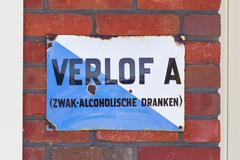 LELYSTAD, THE NETHERLANDS - JUNE 9, 2016: Old permit (Verlof A) outside of a  Stock Photos