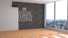 Office interior. 3D illustration Arkistovideo