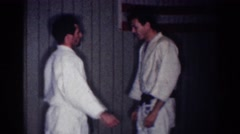 1967: funny looking karate move. LOS ANGELES CALIFORNIA Stock Footage