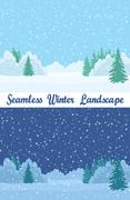 Winter Forest, Seamless Landscapes Stock Illustration